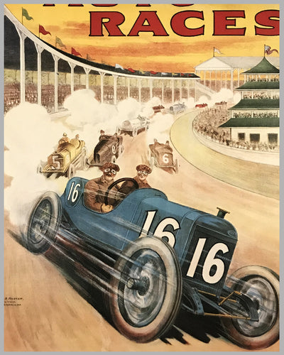 1914 Indianapolis 500 reproduction of official event poster 2
