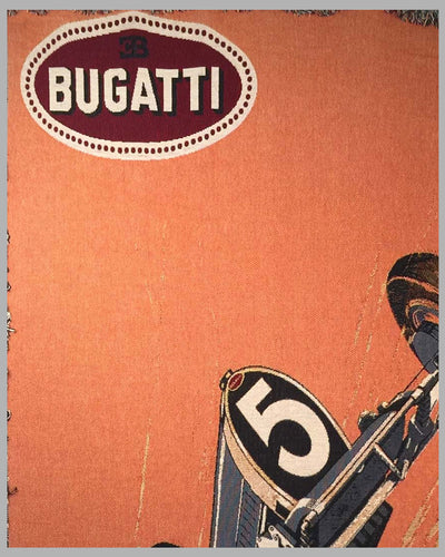 Bugatti large tapestry produced in the 1990's by Jacques Grelley 2