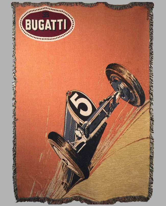 Bugatti large tapestry produced in the 1990's by Jacques Grelley