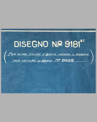 1926 Isotta Fraschini original blueprint for the Tipo 8ASS Normale 4