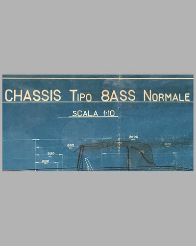 1926 Isotta Fraschini original blueprint for the Tipo 8ASS Normale 5