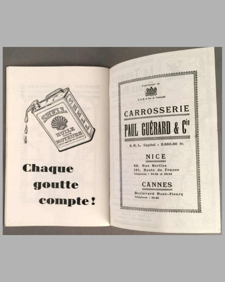 1929 Monaco Grand Prix program from the collection of Rene Dreyfus inside 4