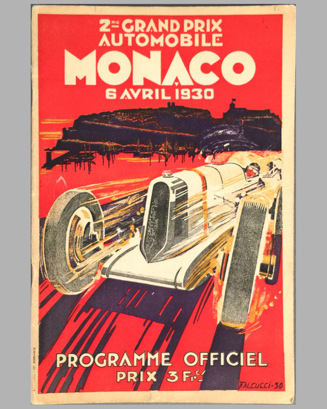 1930 Monaco Grand Prix original program from the collection of Rene Dreyfus