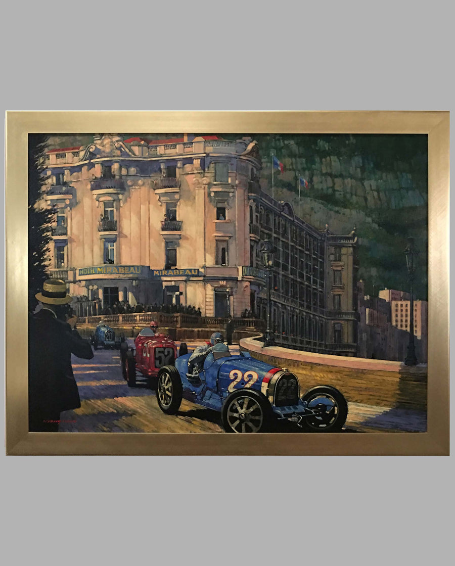 1931 Grand Prix of Monaco painting by Barry Rowe