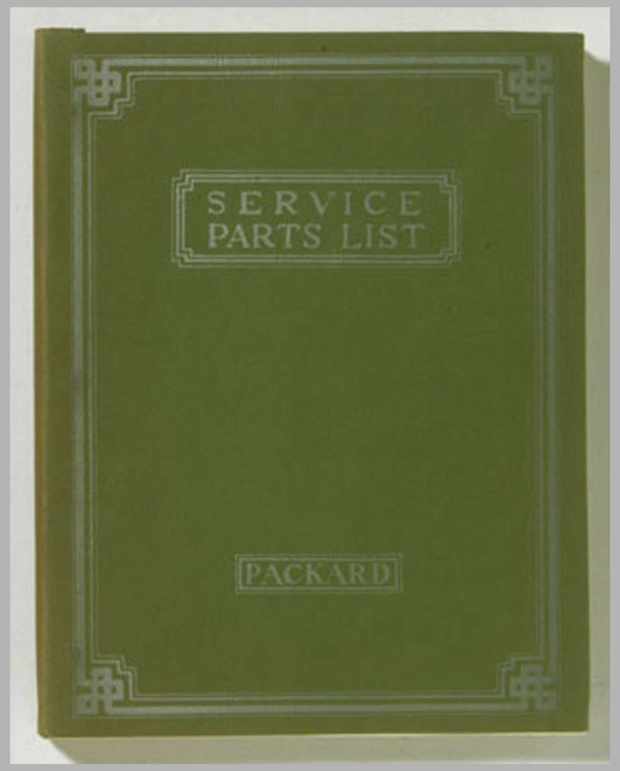 1931 Packard Service Parts List reprint
