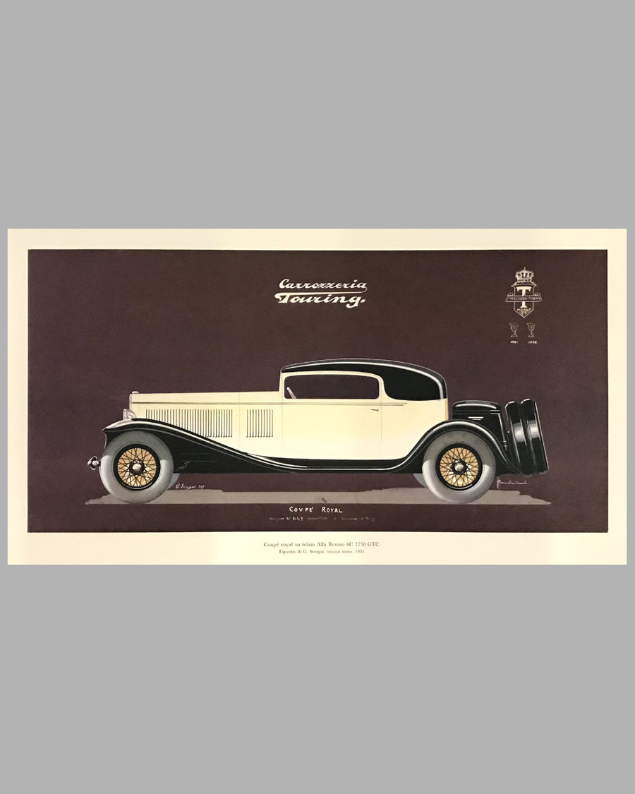 1931 Alfa Romeo 1750 GTC Coupé Royal Print, 1982