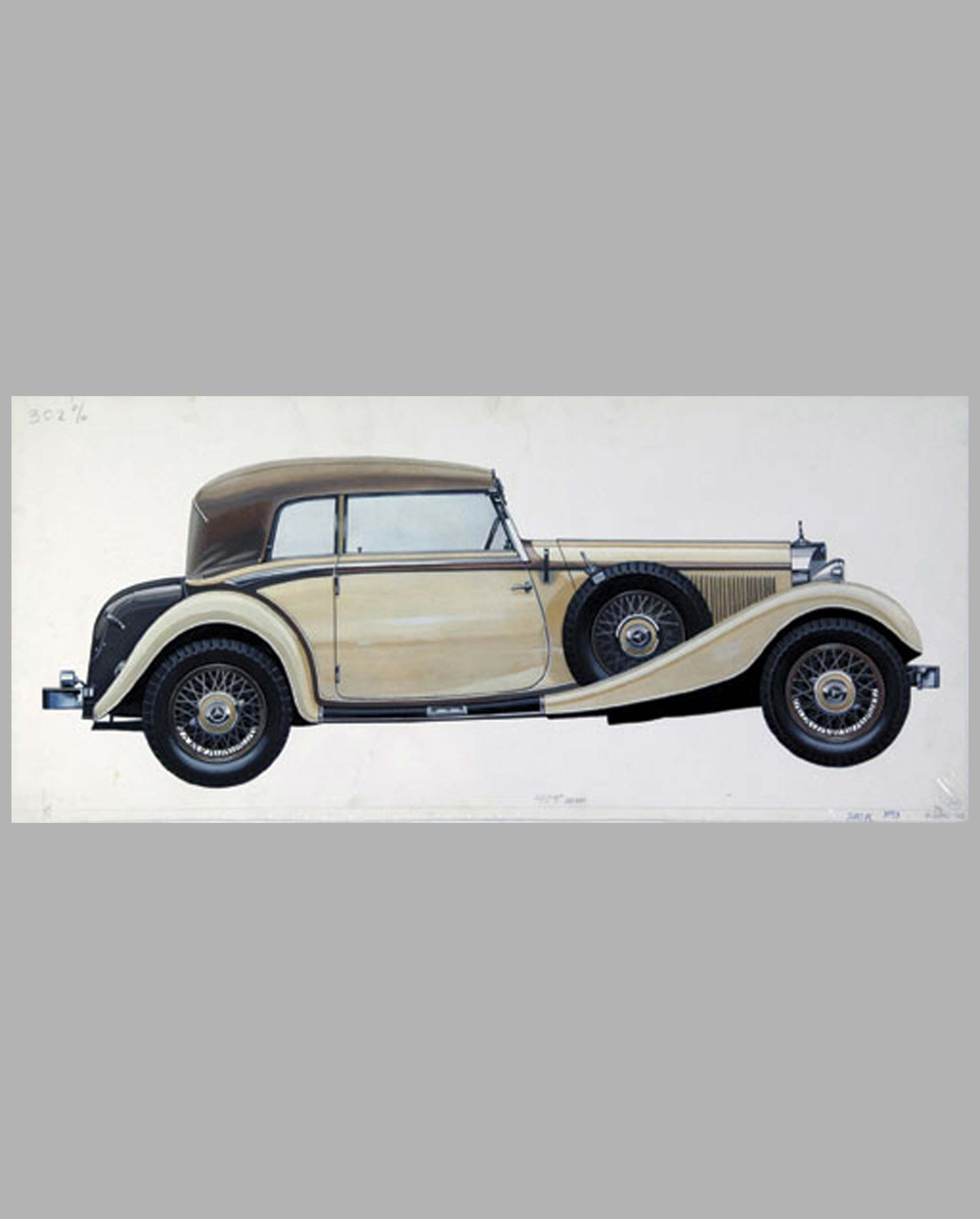 1933 Mercedes-Benz 380K Cabriolet painting by C. Demand