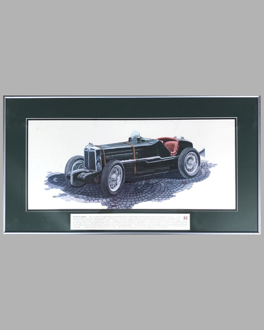 1933 MG K-Magnette print by Peter Q. Bishop