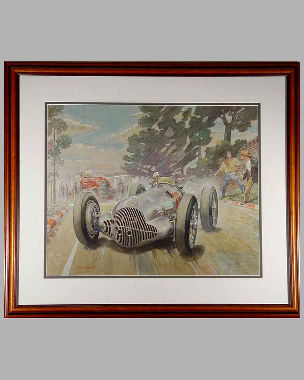 1938 Coppa Acerbo painting by Louis Huber