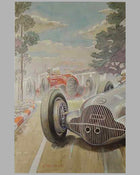 1938 Coppa Acerbo painting by Louis Huber 2