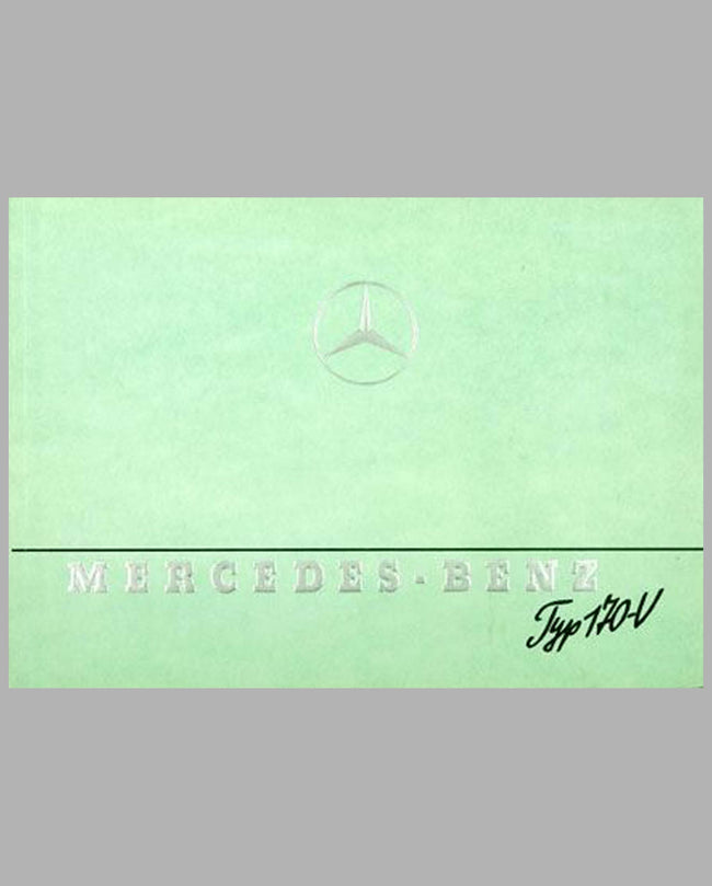 1947 Mercedes-Benz Type 170V prestige color catalog factory reprint