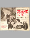 1950 U.S. Grand Prix original program at Watkins Glen