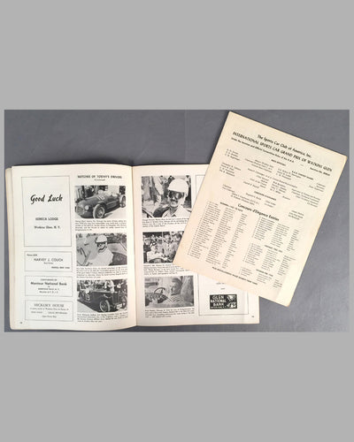 1950 U.S. Grand Prix original program at Watkins Glen inside 2