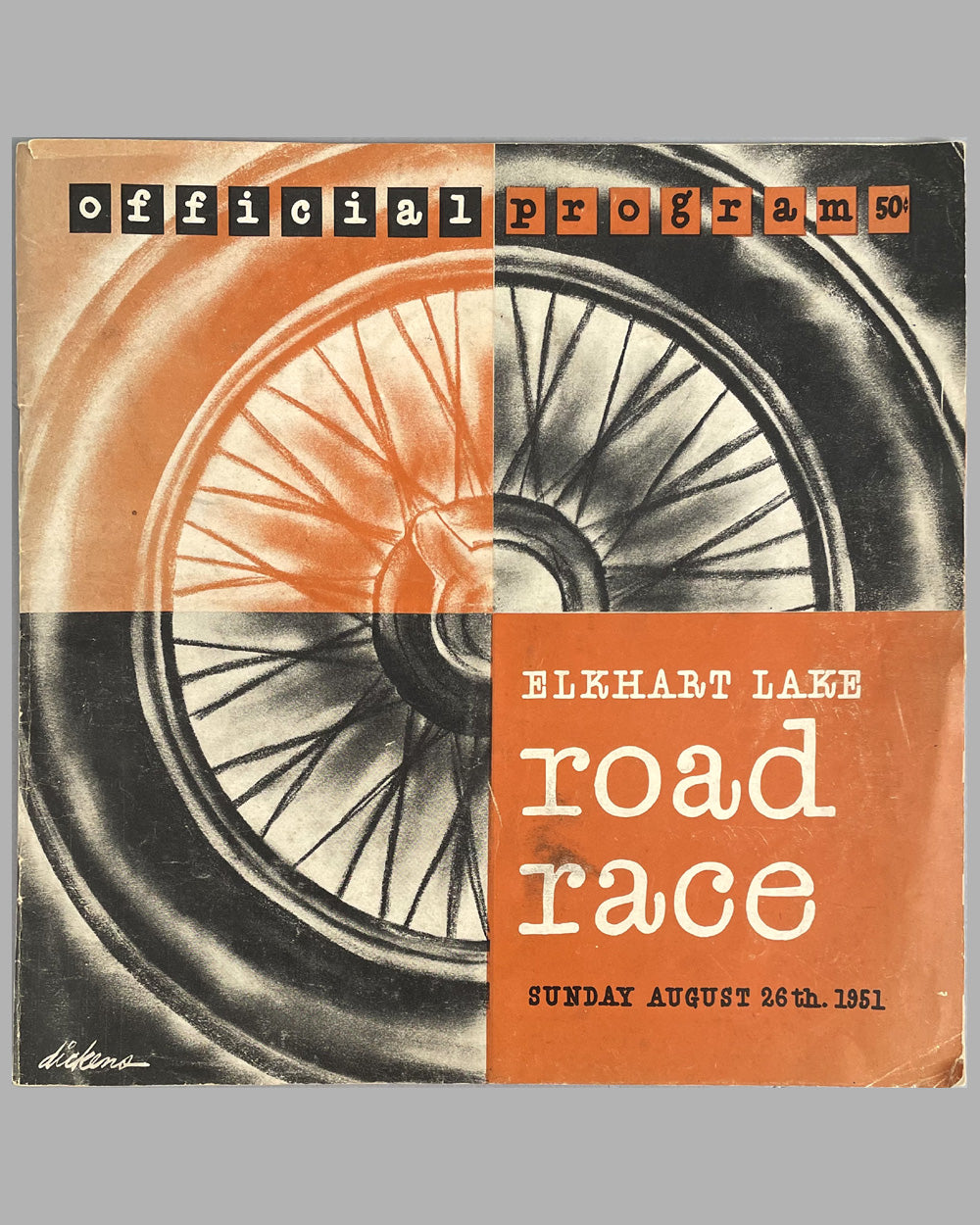 Early Elkhart Lake road race program - August 26th, 1951
