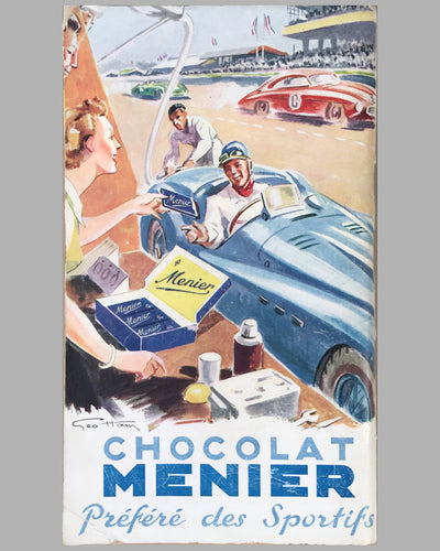 1952 24 Heures du Mans official program back cover