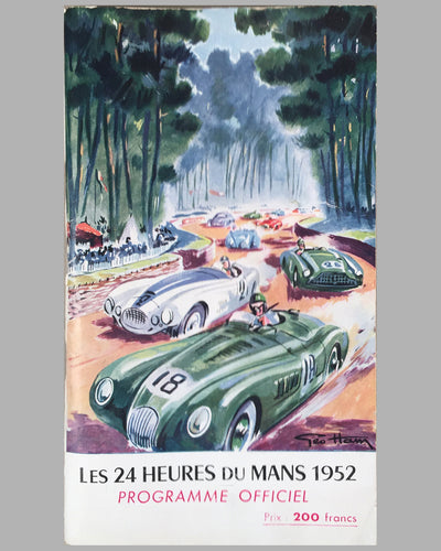 1952 24 Heures du Mans official program