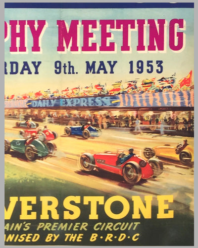 International Daily Express trophy meeting 1953 at Silverstone original poster 2