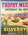 International Daily Express trophy meeting 1953 at Silverstone original poster 3