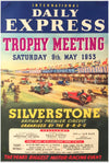 1953 International Daily Express trophy meeting at Silverstone original poster
