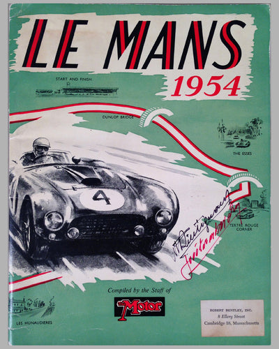 Le Mans 1954 book compiled by the staff of The Motor Magazine