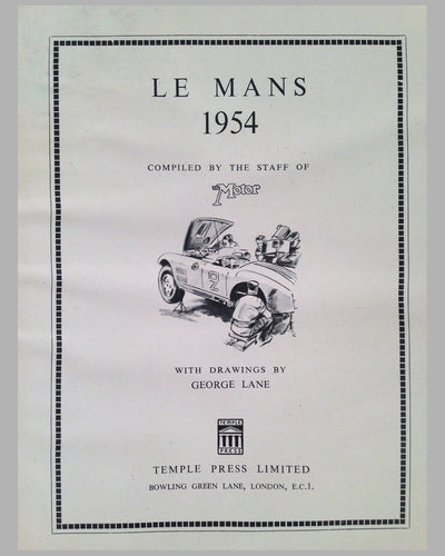 Le Mans 1954 book compiled by the staff of The Motor Magazine 2