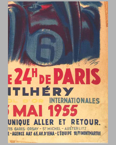 Grand Prix de 24 heures de Paris 1955 original Poster by Geo Ham 2