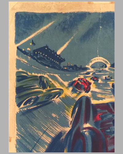 Grand Prix de 24 heures de Paris 1955 original Poster by Geo Ham 4
