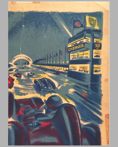 Grand Prix de 24 heures de Paris 1955 original Poster by Geo Ham 5