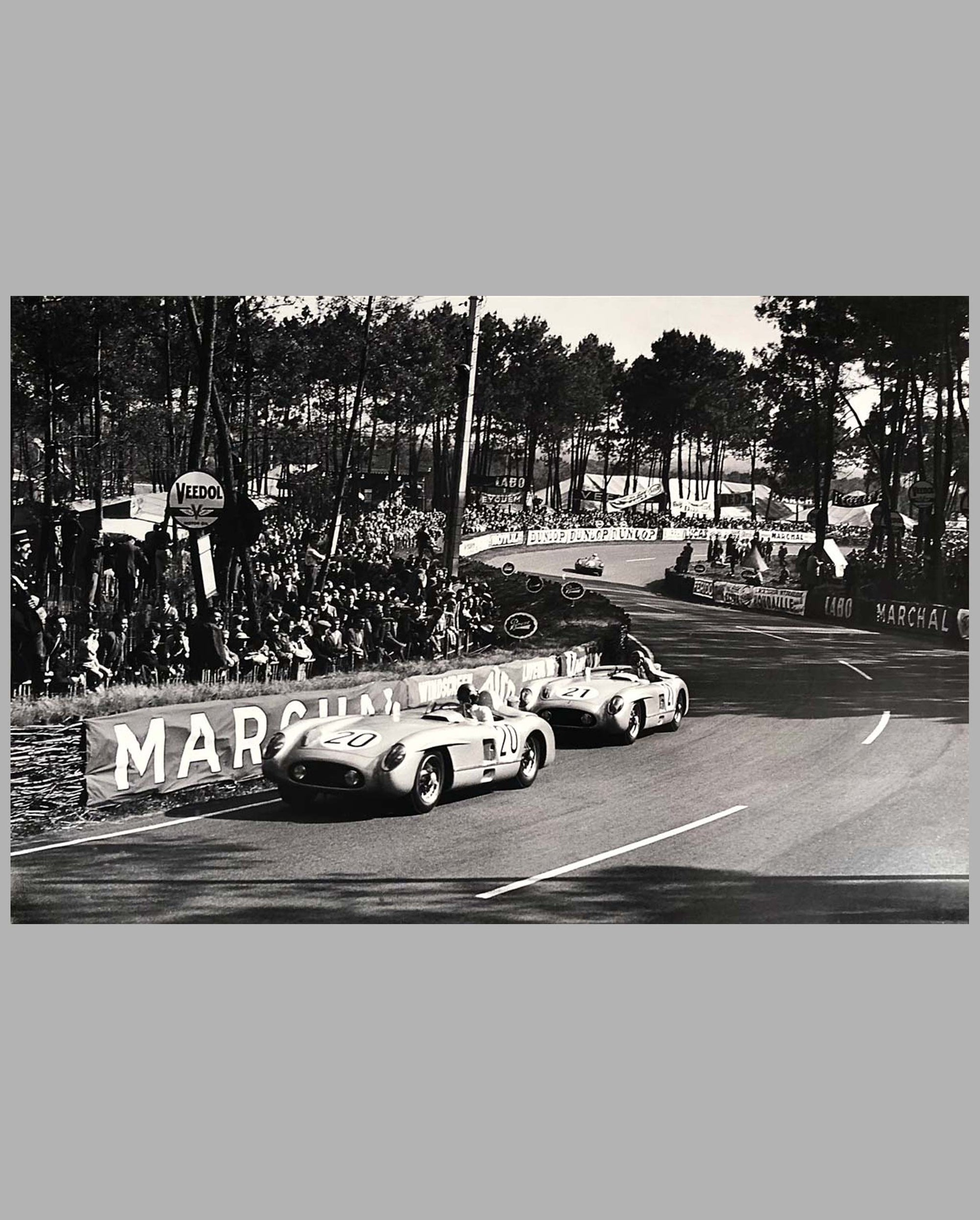 10 - 1955 - 24 Hours of Le Mans large photograph