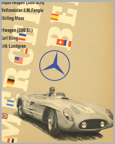 1955 Grand Prix of Sweden original Mercedes-Benz poster 2