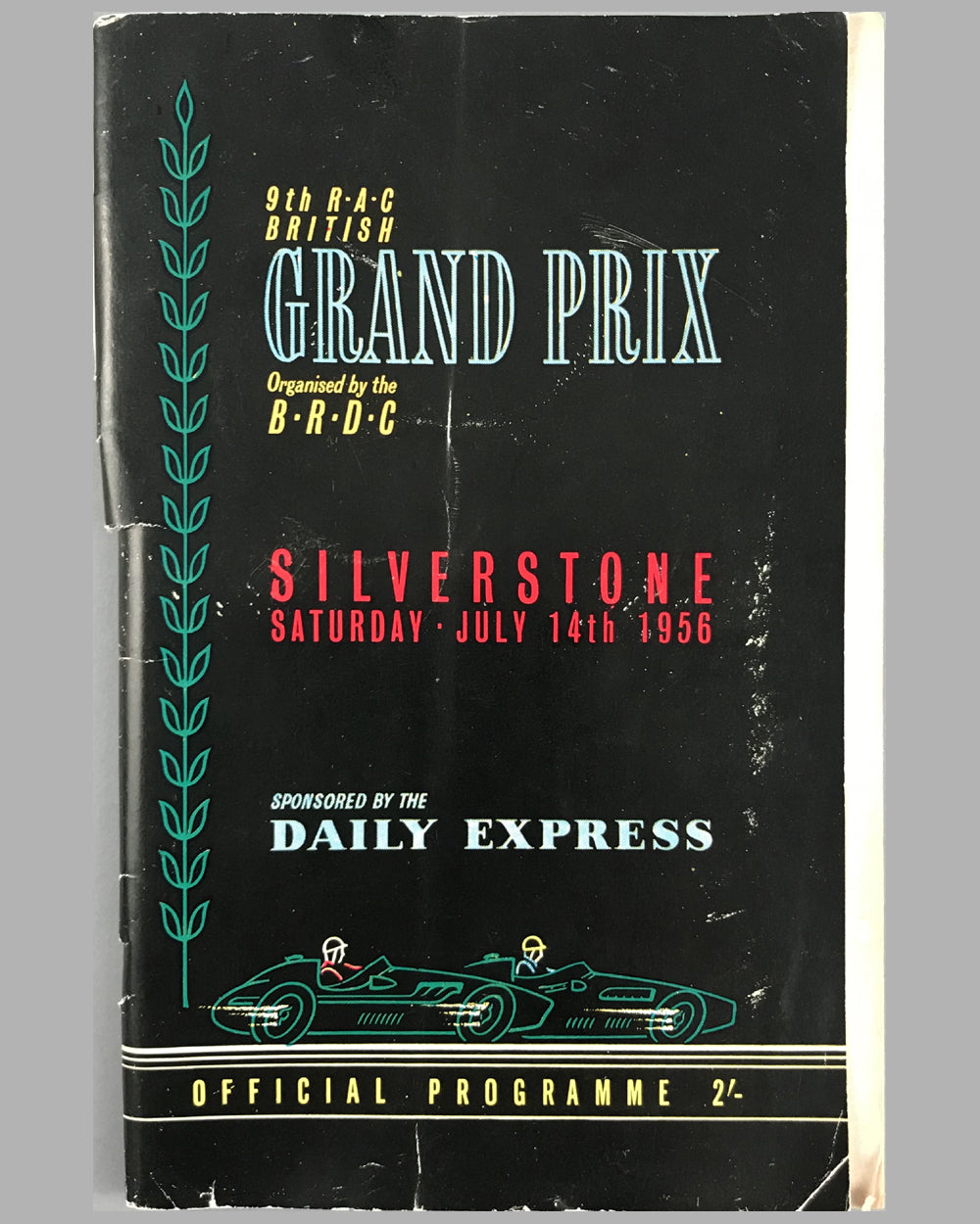 1956 Grand Prix of Silverstone Formula 1 Championship Race Program