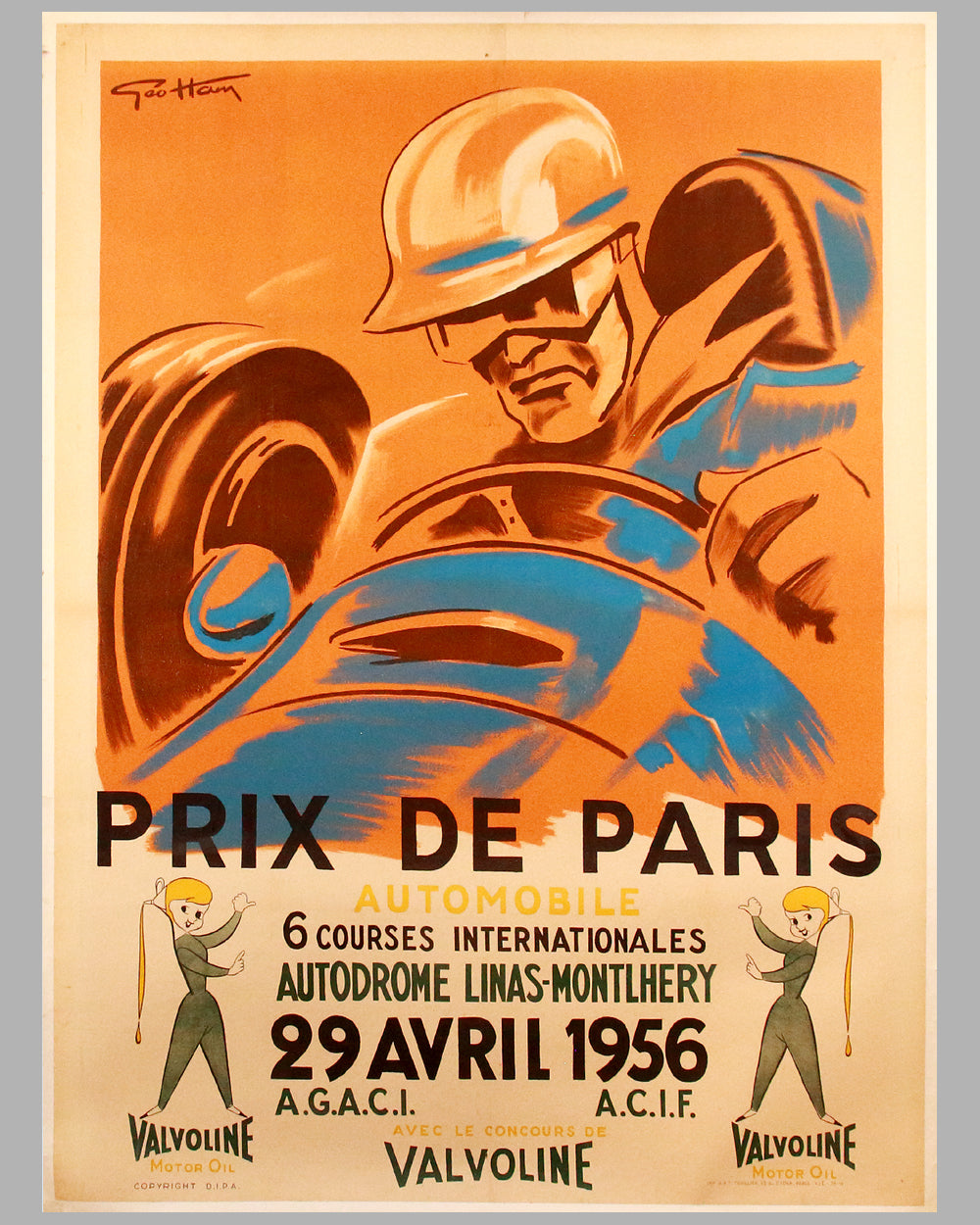1956 Prix de Paris original poster by Geo Ham