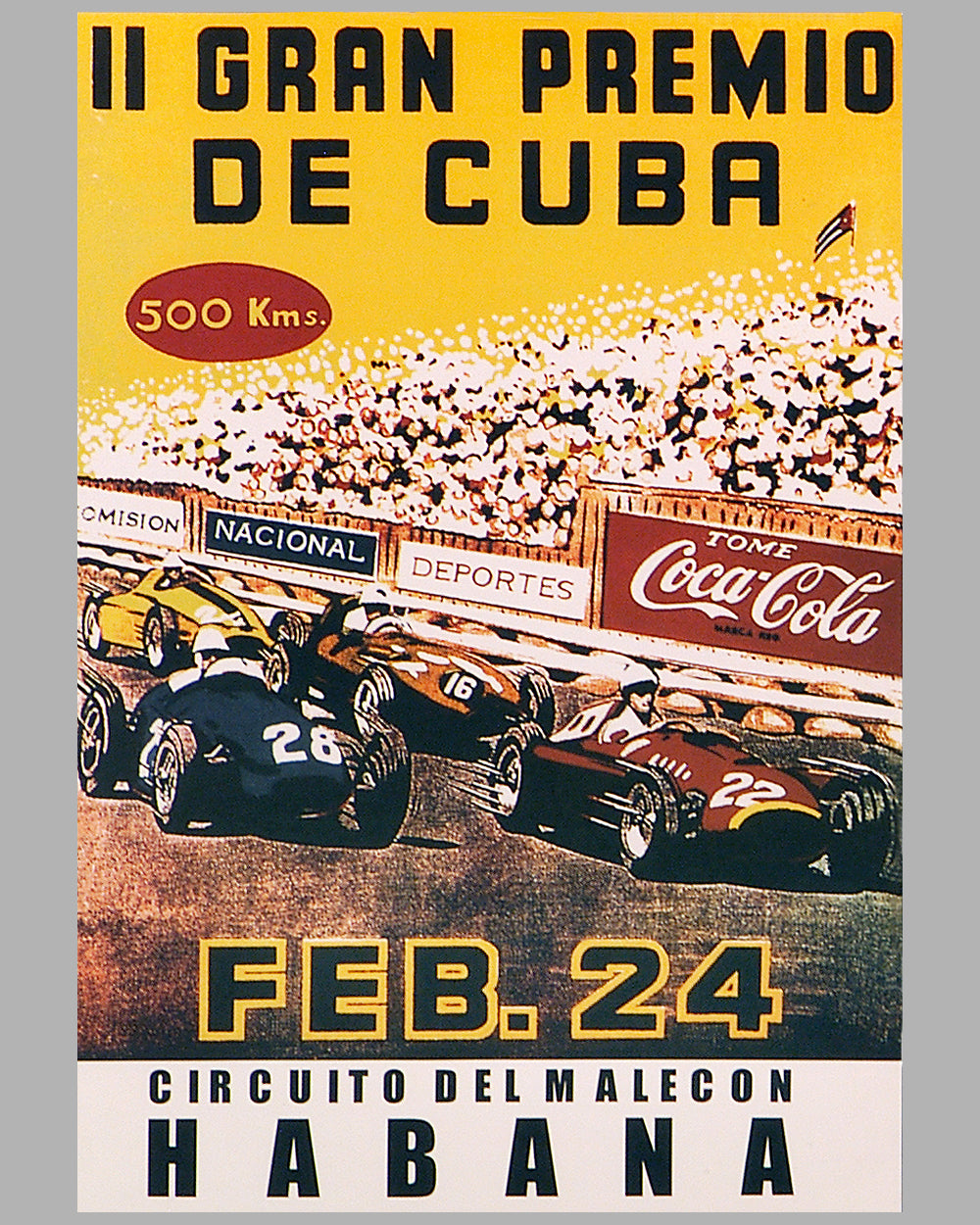 1957 Grand Prix of Cuba event poster