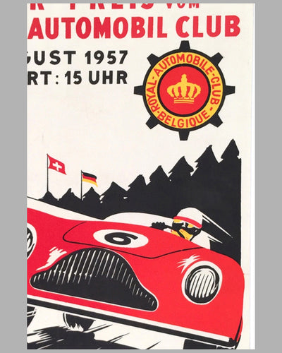 Grand Prix of Belgium 1957 original poster 3