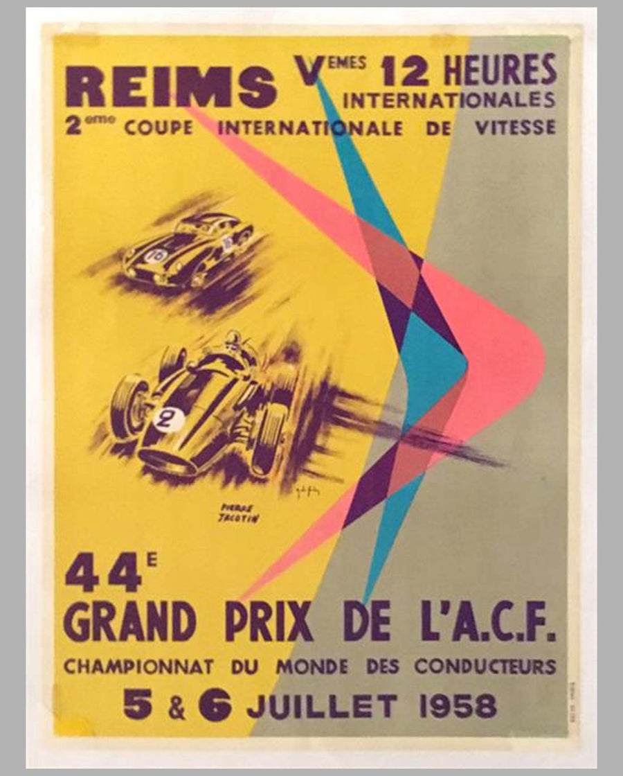 ACF Grand Prix – Reims – 1958 original poster