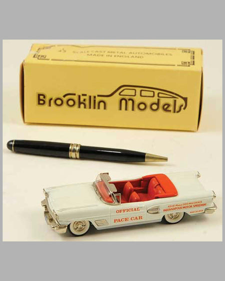 1958 Pontiac Bonneville Indy 500 Pace Car model by Brooklin