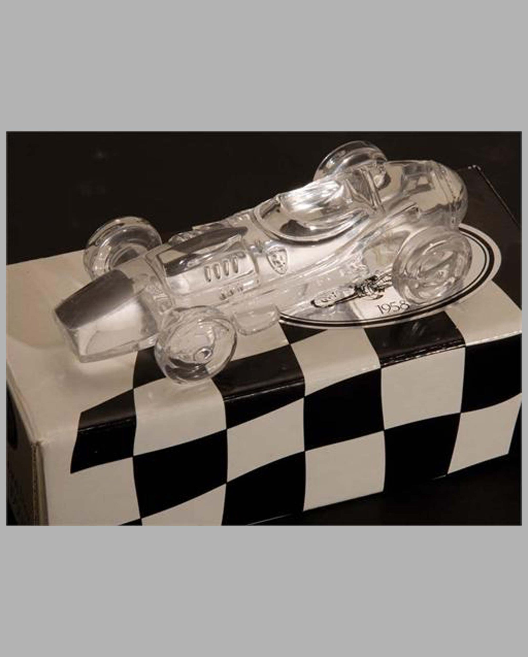 1958 Ferrari Dino 246 crystal sculpture paperweight by Atlantis (Portugal)