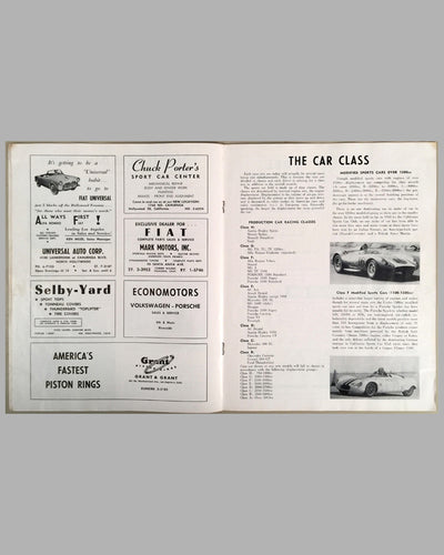 US Grand Prix Sports car official program at Riverside International Raceway 1958 inside 2