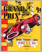 US Grand Prix Sports car official program at Riverside International Raceway 1958