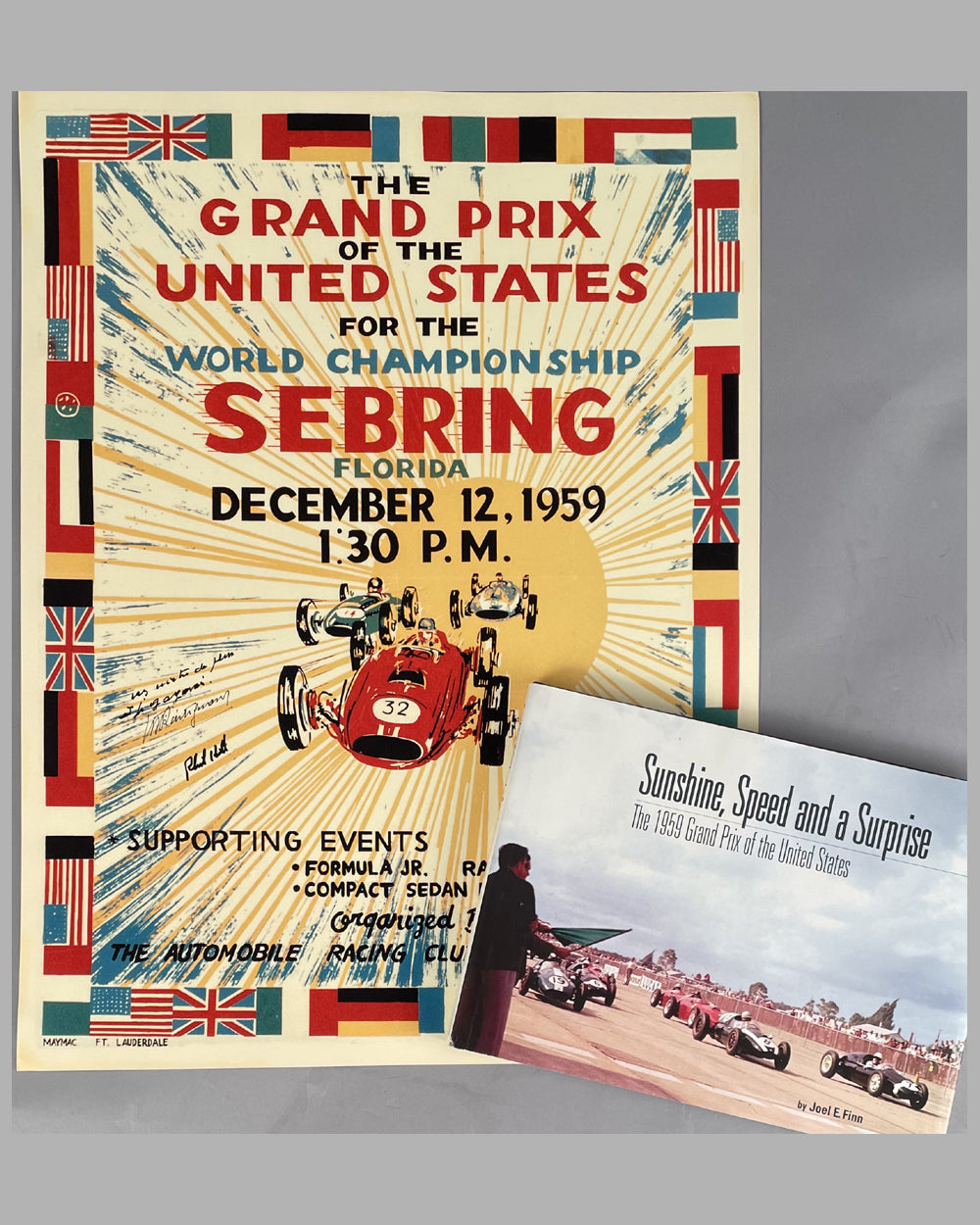 Two 1959 Grand Prix of the U.S. in Sebring Fl. items