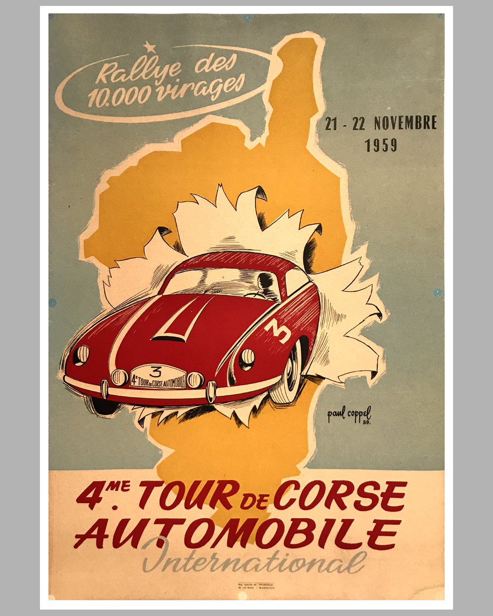 1959 - 4eme (4th) Tour de Corse Automobile International Rallye of the 10,000 turns
