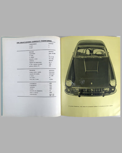 1960 Ferrari Yearbook factory publication 2