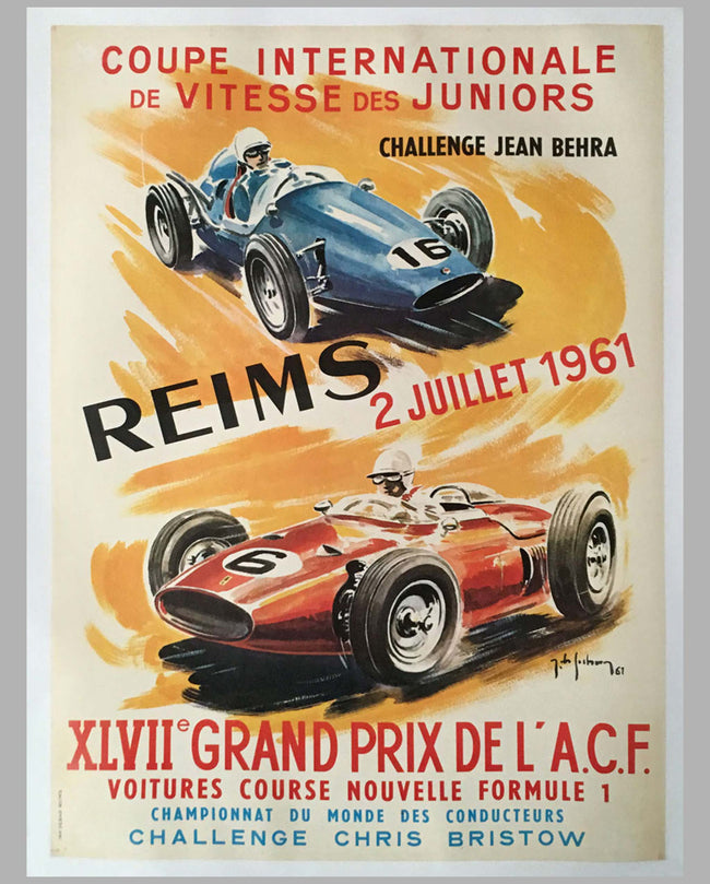 Grand Prix ACF 1961 original event poster