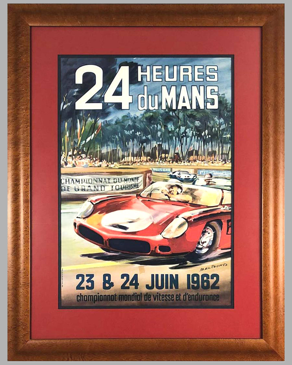 1962 - 24 hours of Le Mans original advertising Poster