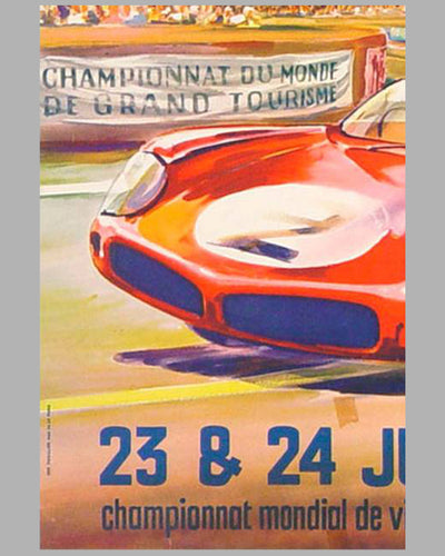 1962 24 hours of Le Mans original advertising Poster 3