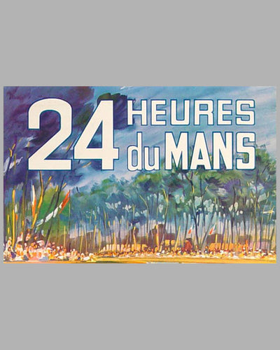 1962 24 hours of Le Mans original advertising Poster 4