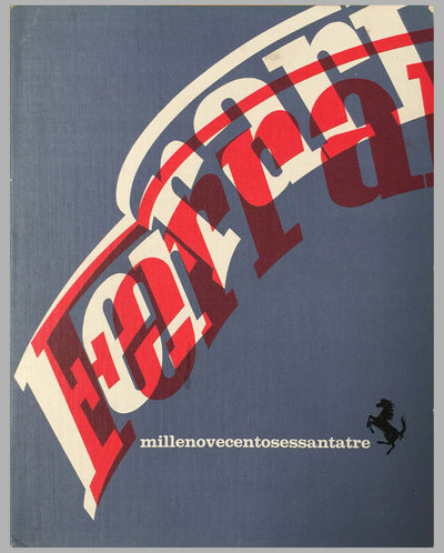 1963 Ferrari Yearbook factory publication cover