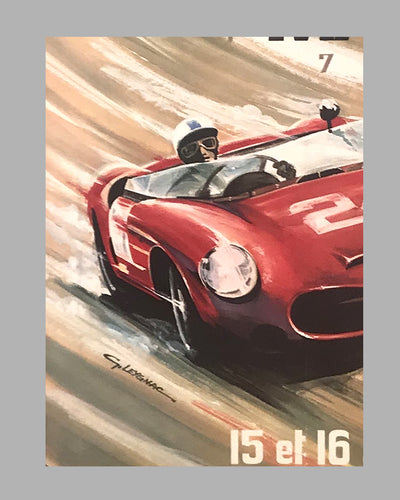 1963 - 24 Hours of Le Mans original poster by G. Leygnac 3