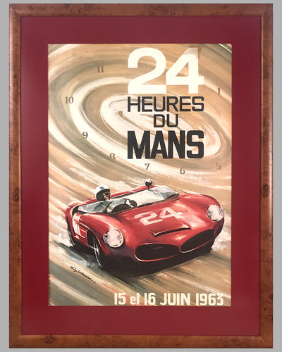 1963 - 24 Hours of Le Mans original poster by G. Leygnac