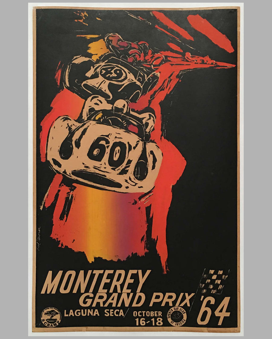 Monterey Grand Prix 1964 original poster by Earl Newman